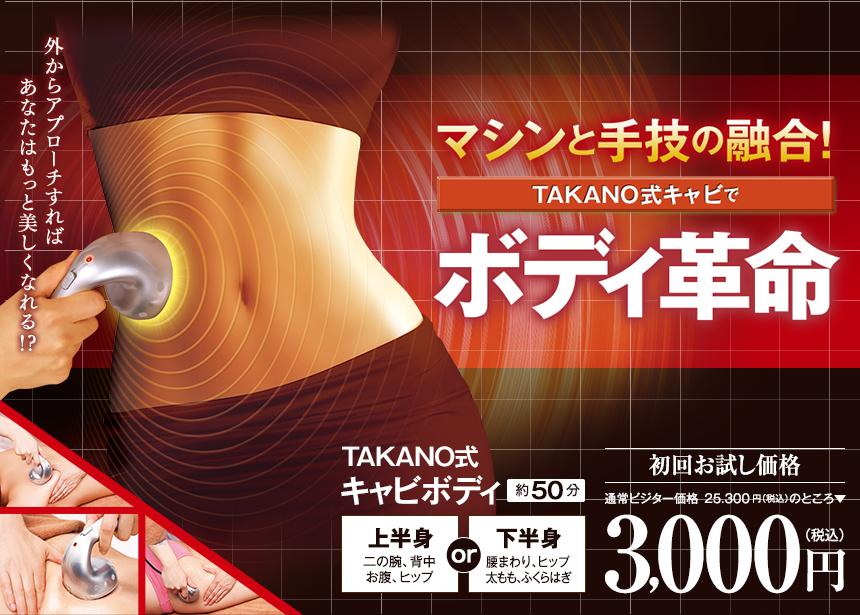 マシンと手業の融合!TAKANO式キャビでボディ革命!